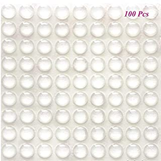 Rubber Feet Pads SAIYU 100 Pieces Adhesive Bumper Pad Silicone Bumper Foot Protector Pad (100 Pieces, 9 mm x 3 mm, Clear, Hemispherical Shape)