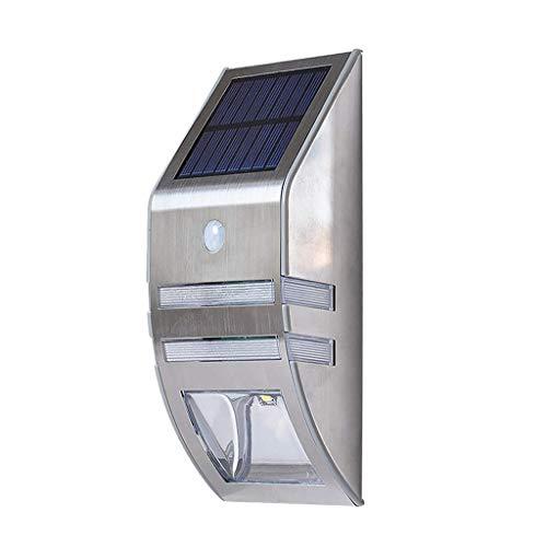 Luz del Sensor de Movimiento Solar, Luces de Seguridad LED Luz de la Pared Impermeable al Aire Libre inalámbrica súper Brillante Luz Blanca para la Entrada del jardín Valla Camino Porche Pla