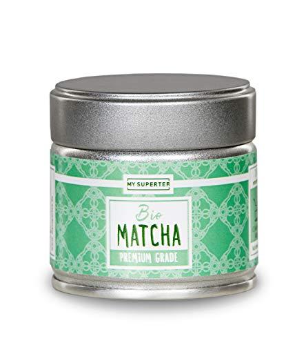 BIO Matcha Pulver in Premium Qualität | Dein Koffein Booster für volle Konzentration | Original Japanischer Bio Grüntee Pulver für Matcha Tee, Matcha Latte oder Matcha Smootie