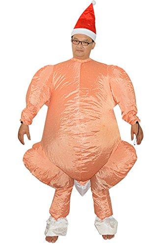 Aufblasbares Kostüm Türkei Huhn Suit Erwachsene Cosplay für Halloween Fasching (Erwachsene Ausgefallene Für Kostüme Halloween)