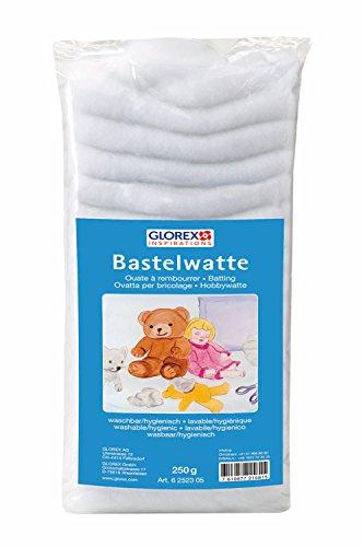 GLOREX 6 2523 05 Bastelwatte Weiss 250g, 47 x 20 x 10 cm -