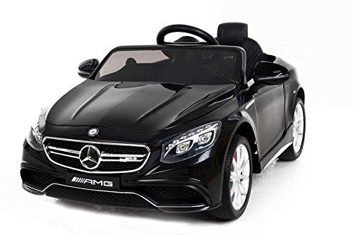 Mercedes-Benz S63 AMG, Negro, producto BAJO LICENCIA, con mando a distancia 2.4Ghz, ruedas EVA suaves