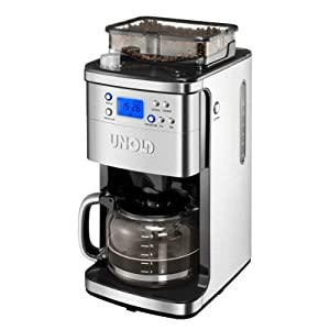 Unold Coffee Maker Grinder, 1.5 Litre, 1050 W, Stainless Steel/Black