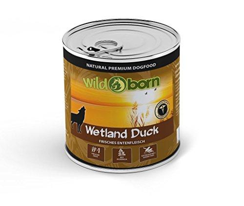 WILDBORN Hundefutter WETLAND DUCK Nassfutter mit Ente 6 x 800 g für erwachsene Hunde