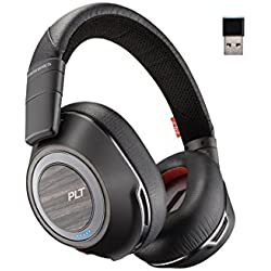 [Cable] Plantronics Voyager 8200 UC Diadema Binaurale Alámbrico Negro, Madera - Auriculares (Binaurale, Diadema, Negro, Madera, Volume +,Volume - Alámbrico, A2DP,AVRCP,HFP,HSP)