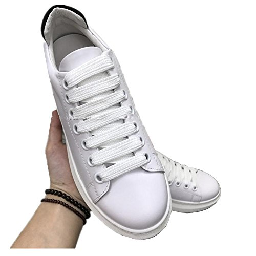 2017 cuir petites sandales blanches chaussures simples fond épais sauvages chaussures plates sport chaussures de sport White