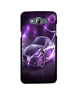 Fuson 2D Printed Car Designer back case cover for Samsung Galaxy J7 - D4494