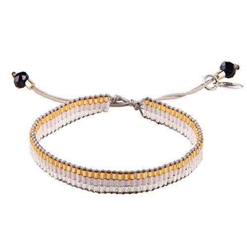 KELITCH Mixte Couleur Perles de Rocaille Tressé Amitié Bracelet Wristband #04