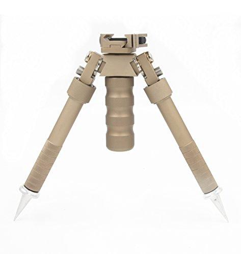 JINSE Schwenken Tactical Bipod Zweibein Ständer Super Duty Einklappbar Einstellbare 6 bis 9 Zoll Mit Spikes (Gewehr Harris Zweibein)