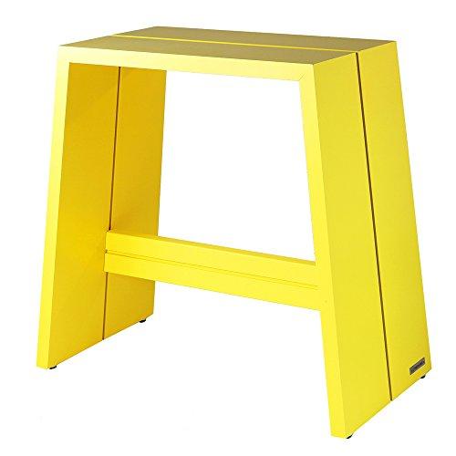 NATUREHOME Design-Hocker Massivholz Buche gelb ohne Griff