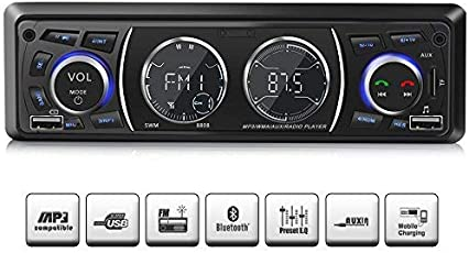 Ironpeas Autoradio mit Bluetooth Freisprecheinrichtung,USB/MP3/FM/WMA/TF-Media Player + Fernbedienung,Single-Din-Universal-Autoradio