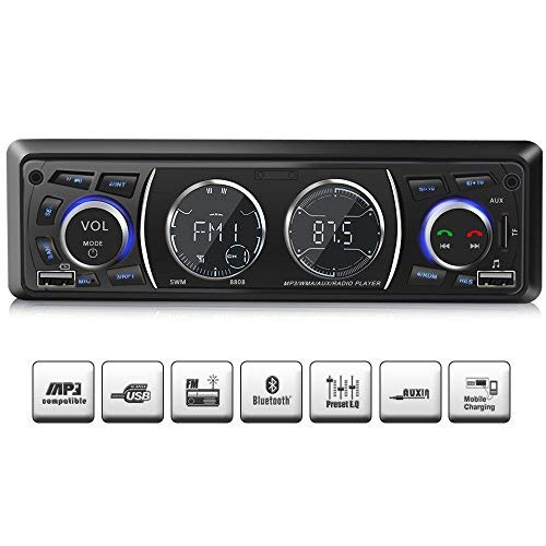 Ironpeas Autoradio mit Bluetooth Freisprecheinrichtung,USB/MP3/FM/WMA/TF-Media Player + Fernbedienung,Single-Din-Universal-Autoradio -