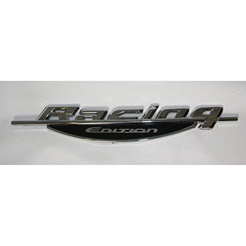 3D Autoaufkleber Racing Edition Schriftzug Emblem Logo Heckaufkleber Chrom Silber