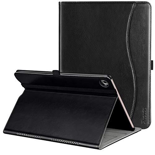 Ztotop Hülle für Huawei MediaPad M5 /M5 Pro 10.8 Zoll 2018, Premium Kunstleder Leichte Case mit Auto Schlaf/Wach Funktion und Pen Halter, für Huawei MediaPad M5 10.8 Zoll 2018 Modell,Schwarz