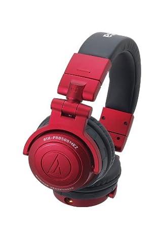 Audio-Technica ATH-PRO500MK2 RD Casque DJ Professionnel
