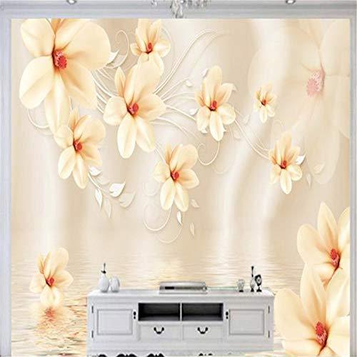 Pbldb 3D Benutzerdefinierte Fototapeten Kunst Wandbilder Malerei Blumen CameoTapeten Wohnzimmer Tv Hintergrund Tapeten Wohnkultur-250X175Cm