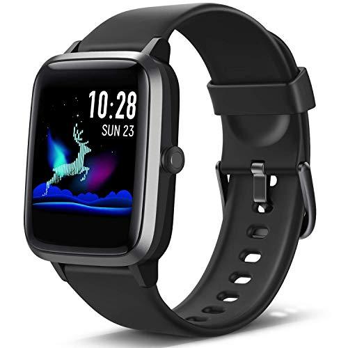 Lintelek Smartwatch Fitness Armband mit Pulsuhr 1,3 Zoll Touchscreen Fitness Uhr Wasserdicht 5ATM Armbanduhr Fitness Tracker Sportuhr mit Schrittzähler Pulsuhren für Damen Herren Smart Watch