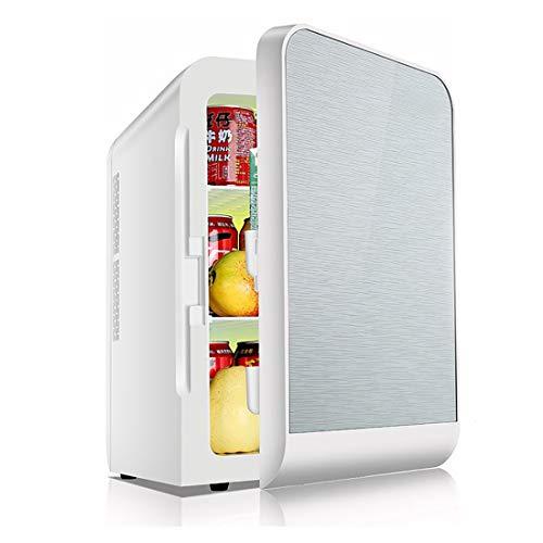 L.W.SURL Auto Menage Dual-Use-Kleiner Kühlschrank 20L Große Kapazität Aufwärmbox Auto Dual-Kälteglas Real (Color : Silver, Style : Single)