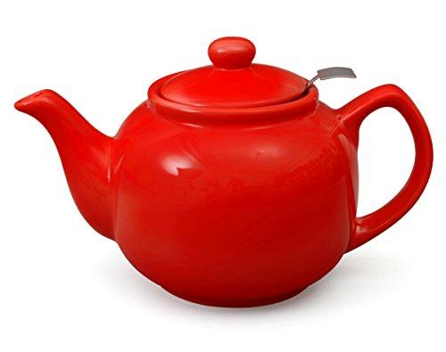 Teeservice / Teeset 3-teilig Malika in rot mit Edelstahlsieb 1,2l - 2