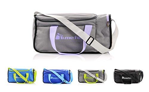 METEOR Moderne Sporttasche für Fitness Gym Urlaub 20L Reisetasche Urlaubstasche Fitnesstasche Riementasche Bag Sport NEPR (Grau/Lila)