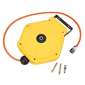 8m PU Carrete de Manguera Retráctil Automático Manguera Neumática con 1/4″ Conector de Entrada de Aire