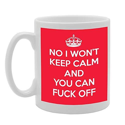 MUG Home 968 NO NO ME GUARDARÁ LA Calma Y Usted Puede FOLLAR LA Taza de cerámica Impresa del café del té del té