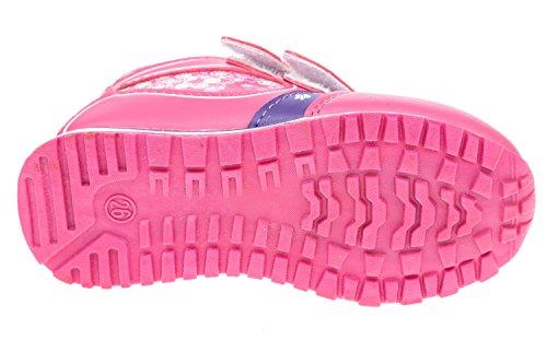gibra , Baskets pour garçon rose/lilas