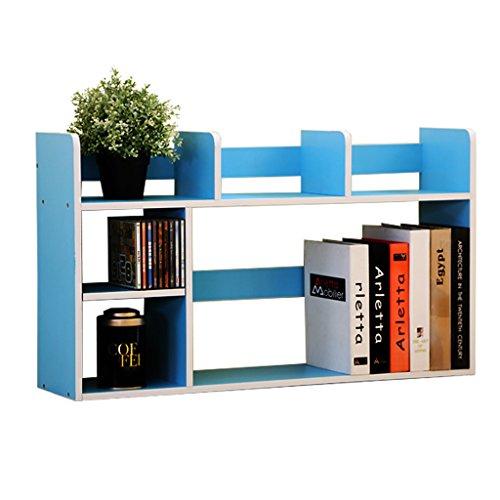 XXGI Modernen Minimalistischen Schreibtisch Kleine Regal Massivholz Desktop Lagerregal Racks Studenten Portfolio Einfache Bücherregal Lagerregal (80 * 20 * 46,5 Cm) (4 Doppelseitige Bücherregal)