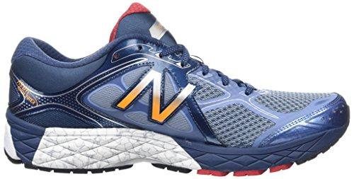 New Balance W860v6, Chaussures de Running Entrainement Homme Blue/White/Orange