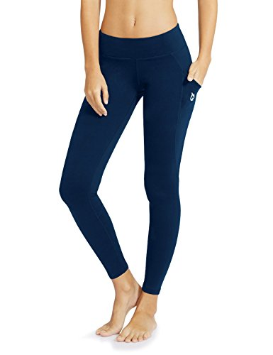 Baleaf Damen Hohe Taille Yoga Leggings Innentasche Nicht Transparenten Stoff, Blau, Baleafabh0060812317wa (Für Karten Valentine Die Schule)