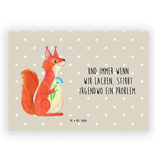 Mr. & Mrs. Panda Radiergummi Eichhörnchen Blume - Eichhörnchen, Eichhorn, Spruch positiv, Lachen, Spaß, Motivation Sprüche, Motivation Bilder, glücklich Spruch, Spruch Deko Radiergummi, Radierer