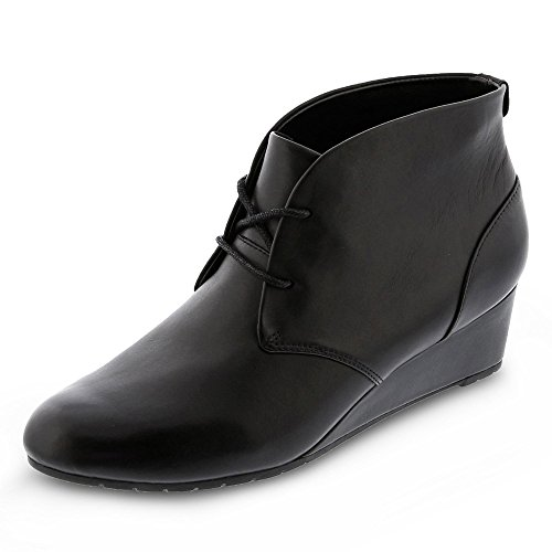Clarks Picco di Vendra Casual stivali in pelle nera Black Leather