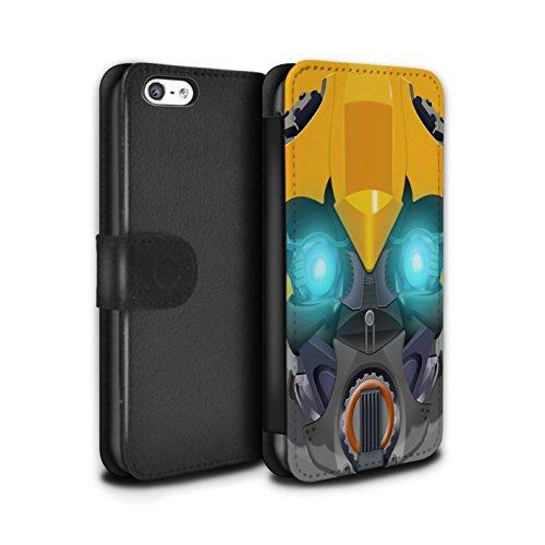Stuff4 Coque/Etui/Housse Cuir PU Case/Cover pour Apple iPhone 5C / Mega-Bot Jaune Design / Robots Collection Bumble-Bot Jaune