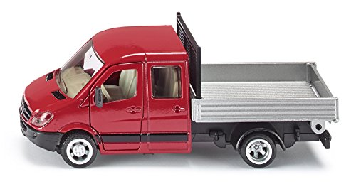 SIKU 3538, Transporteur avec plateau, 1:50, Métal/Plastique, Rouge/Argent, Plateau basculant