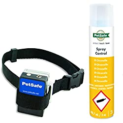 PetSafe Anti Bell Sprühhalsband, umweltfreundliches Zitronella Sprühstoß, Mikrofon Sensor, wetterfest, für Hunde 2,7 kg +