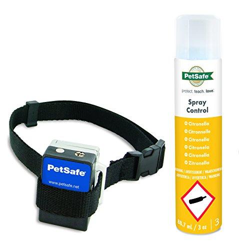 PetSafe Anti Bell Sprühhalsband, umweltfreundliches Zitronella, Mikrofon Sensor, wetterfest, für Hunde 2,7 kg +