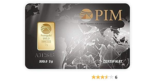 Goldbarren 5 G 5 Gramm Scheckkartenformat Feingold 999 9 Geblistert Nadir Gold Lbma Zertifiziert Amazon De Baumarkt