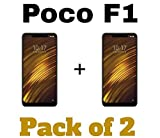 M.G.R.J® Tempered Glass Screen Protector for Xiaomi Poco F1 (Pack of 2)