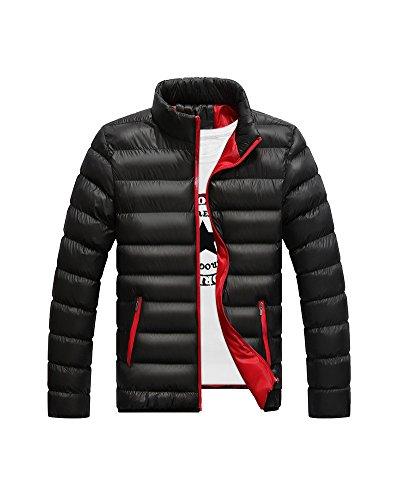 LaoZan Uomo Impermeabile Giacca invernale cappotto Parka Con Cerniera M