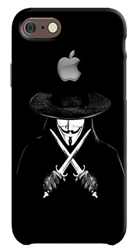 Back cover for Apple iPhone 8 | Designer case |Vendetta Man With Knifes iPhone 8 case| 3D Premium quality (Multicolor, Matte Finish,Poly-Carbonate hard plastic)