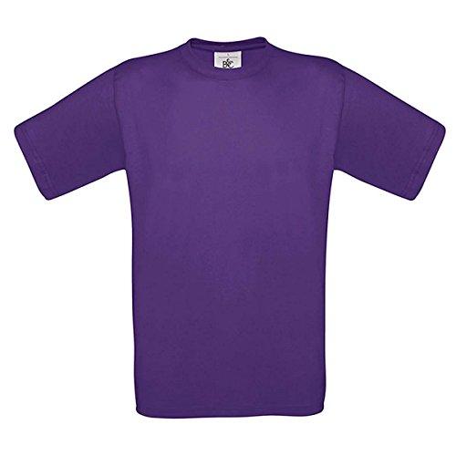 B&C T-Shirt ohne Werbeanbringung, unisex, Rundhals, gerade geschnitten, Baumwolle Lila