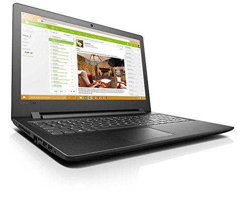 "Lenovo Ideapad 110-15- Portátil de 15.6""HD (Intel N3160, 4 GB de RAM, 500 GB de HDD, Windows 10), negro - teclado QWERTY Español"