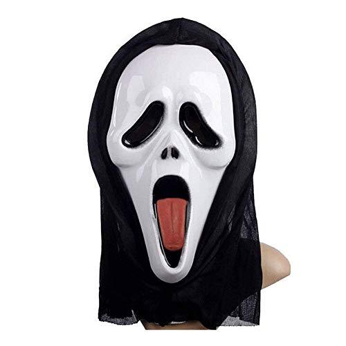 YaPin Halloween Blut Screaming Mask Ghost Maske Horror Maske Kopfbedeckungen Devil Mask Screaming Lustige Scary Gesicht Skelett Maske (Skelett Makeup-tipps Halloween)