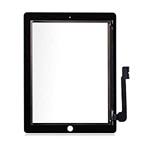 Schwarz Ersatz Digitizer Touch Screen Front Glas Display für Apple iPad 3+ Gratis Werkzeug