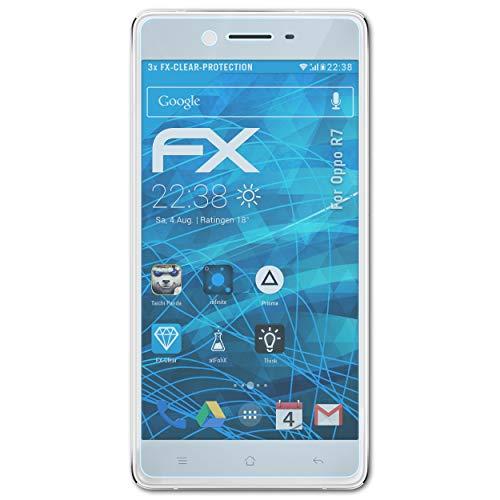 atFolix Schutzfolie kompatibel mit Oppo R7 Folie, ultraklare FX Bildschirmschutzfolie (3X)