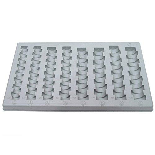 Starterkit-Insetboxenset und Organiser-Münzen Euro (1-2-5-10-20-50Cent, 1-2€) -
