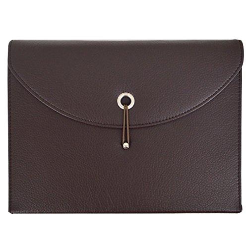 Business Storage (La Haute PU Leder Fächermappe Ordner, Card Wallet A4Datei Taschen Business Dokument Organizer Storage Aktentasche braun)