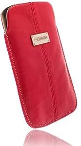 Krusell Luna Leder Etui Tasche für Samsung Galaxy Ace (S5830) rot