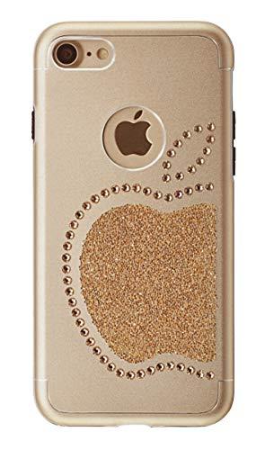 Ishield® for iphone con *51* crystals from swarovski® modello re mela e mela (iphone 8/7 re mela, oro)