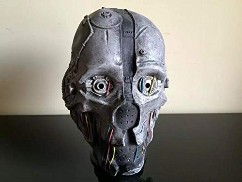 Roboter Halloween Kostüm - Littlefairy Maske,Latex Roboter Maske Halloween Kostüm Ball Performance Zubehör